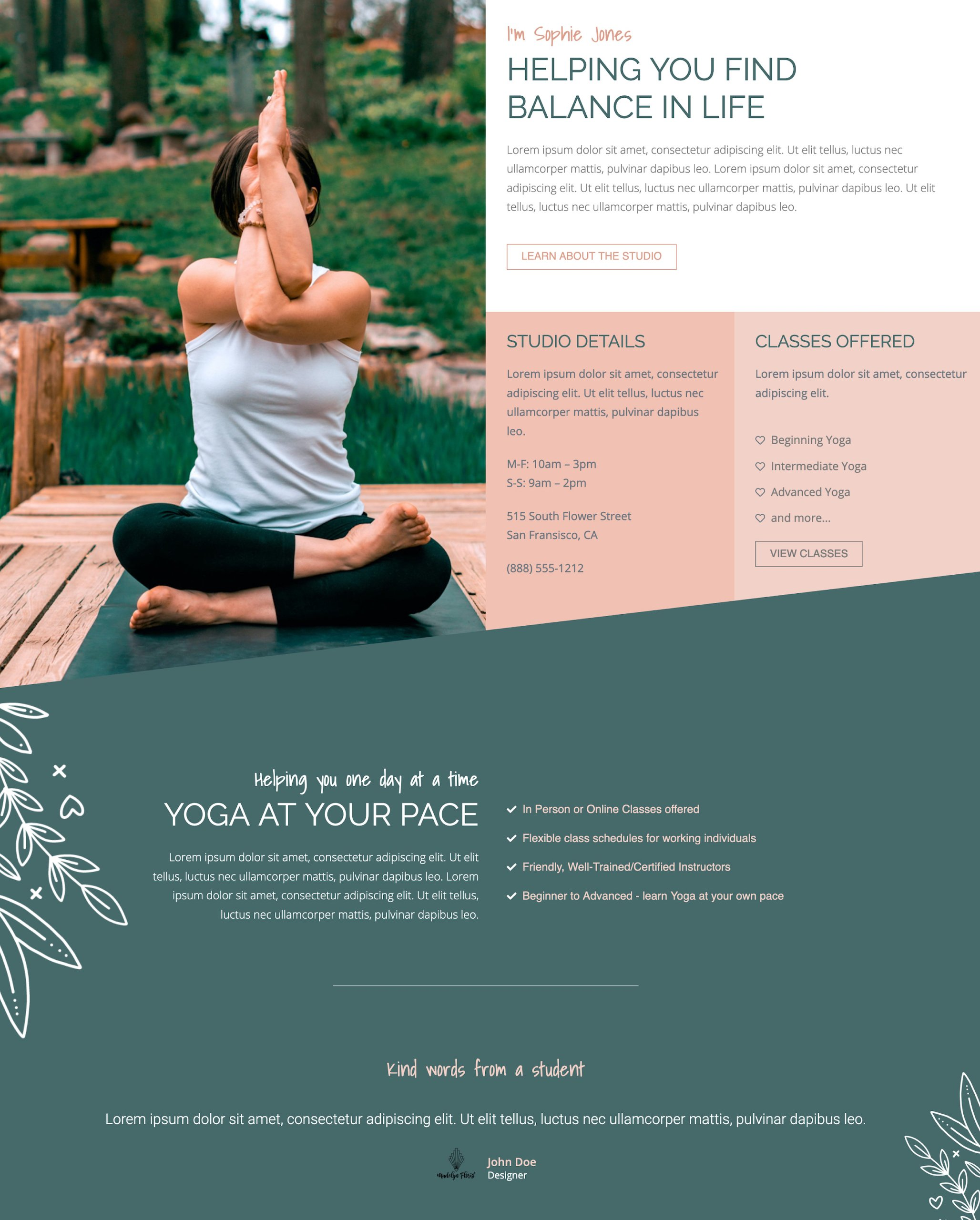 Wellness Inspired Template